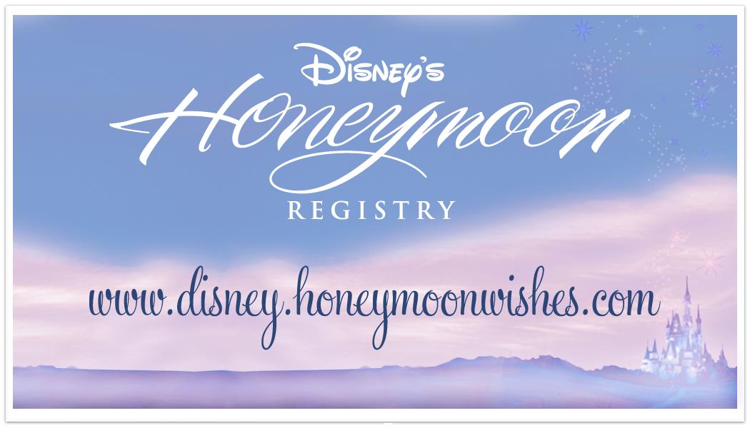 Image Result For Disney Honeymoon Registry